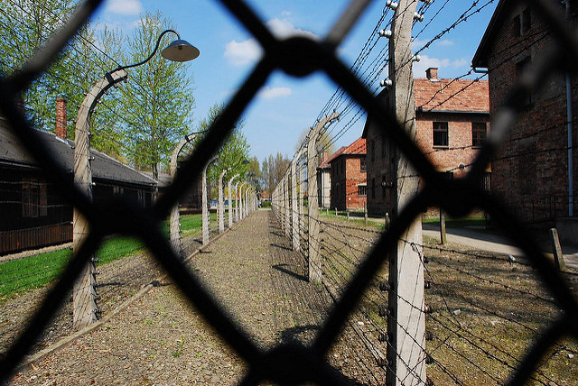 View on Auschwitz- Birkenau Concentration Camp