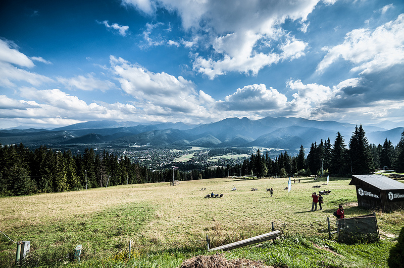View on Zakopane in Poland.