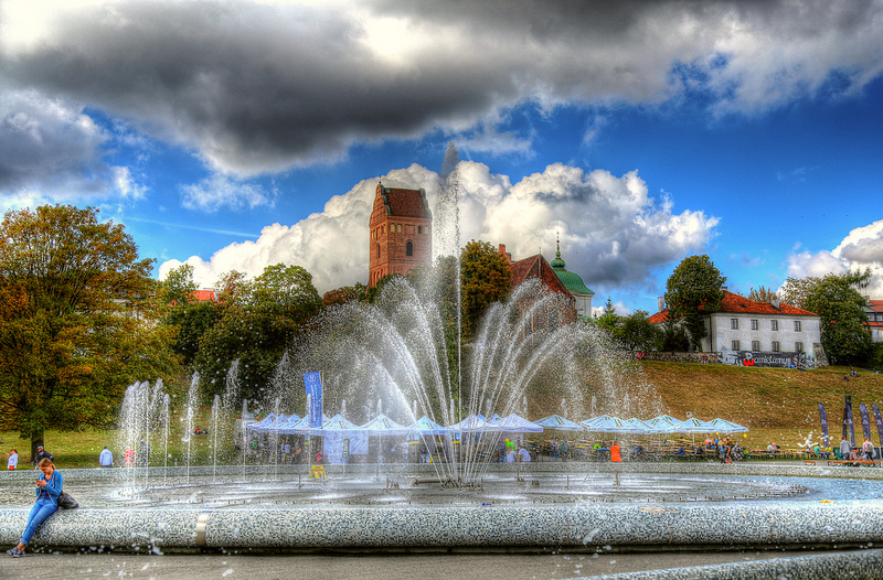 Fountain in Warshaw.