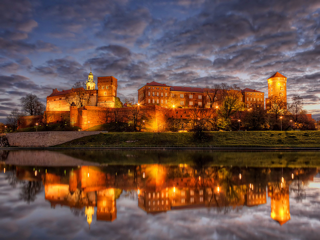 Wawel Castle seen from Wisla's shore.