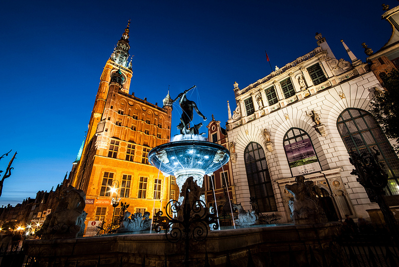 Neptune- symbol of Gdansk.